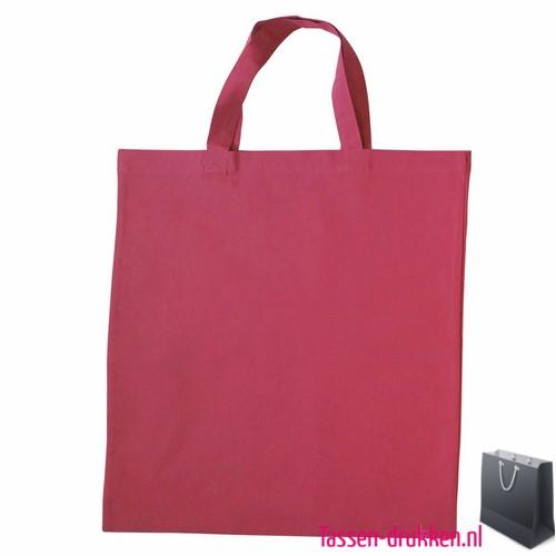 Katoenen Tas Roze : Katoenen draagtas gekleurd bedrukken vanaf per stuk