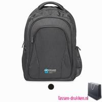 Laptop rugzak 15 inch extreem zware kwaliteit bedrukken, laptoptas bedrukken, laptoptas bedrukt, bedrukte laptoptas met logo