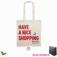 Milieuvriendelijke cotton boodschappentas bedrukken, tassen bedrukken, tasje bedrukt, bedrukte tas met logo