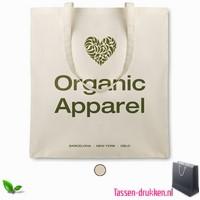 Organische katoenen tas bedrukken, tassen bedrukken, tasje bedrukt, bedrukte tas met logo